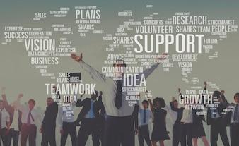 Freiwillige zukünftige Sachkenntnis-zukünftiges Ideen-Wachstum plant Konzept