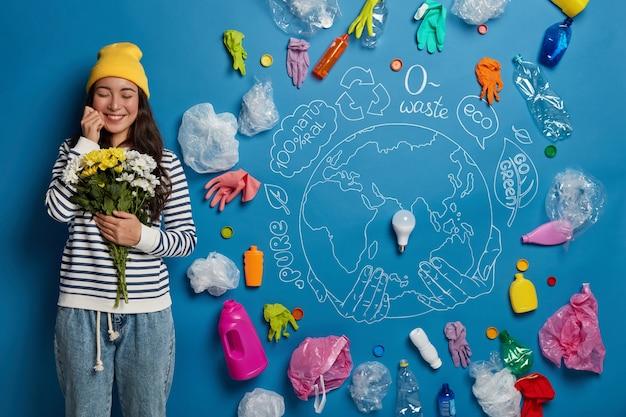 Freiwilligenkonzept für den umweltschutz mit junger aktivistin