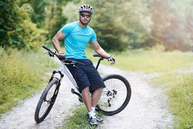 Freizeitbeschäftigung auf dem fahrrad