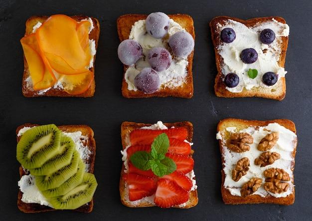 French toast mit hüttenkäse