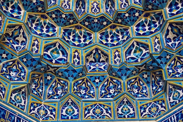 Fresken auf moschee in yazd, der iran