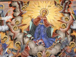 Fresken aus rila-kloster, bulgari