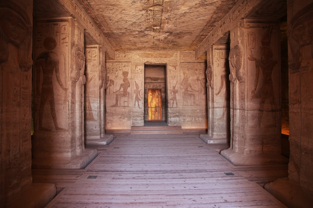 Fresken im abu simbel tempel