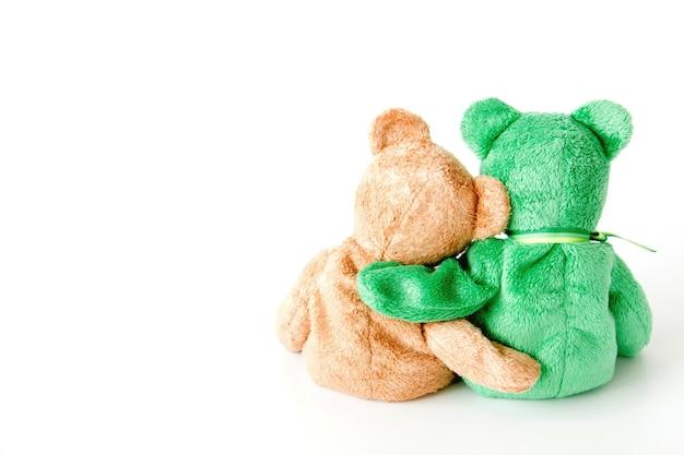 Freundschaft-cute teddybär mit freunden halten in den armen