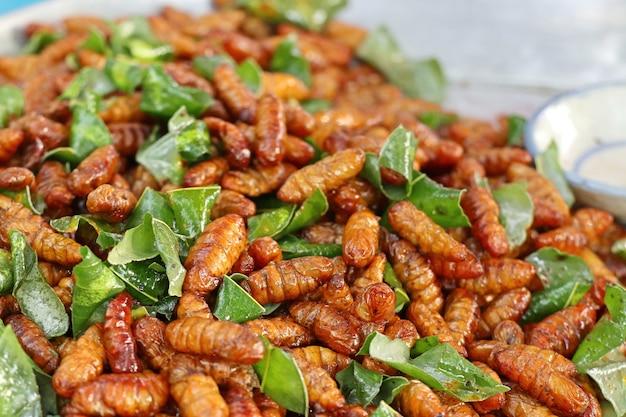 Fried insect am straßenlebensmittel