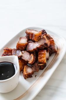 Fried streaky pork oder crispy pork oder deep fried pork belly