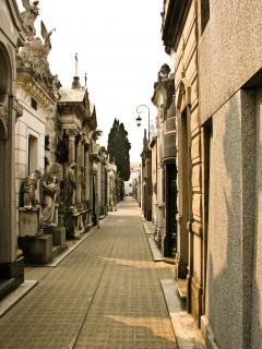 Friedhof scape, tot