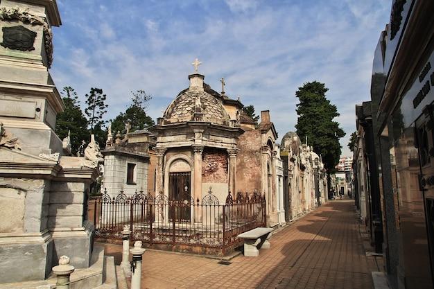 Friedhof von recoleta in buenos aires, argentinien