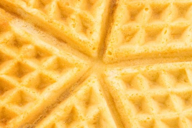 Frisch gebackene belgische waffel