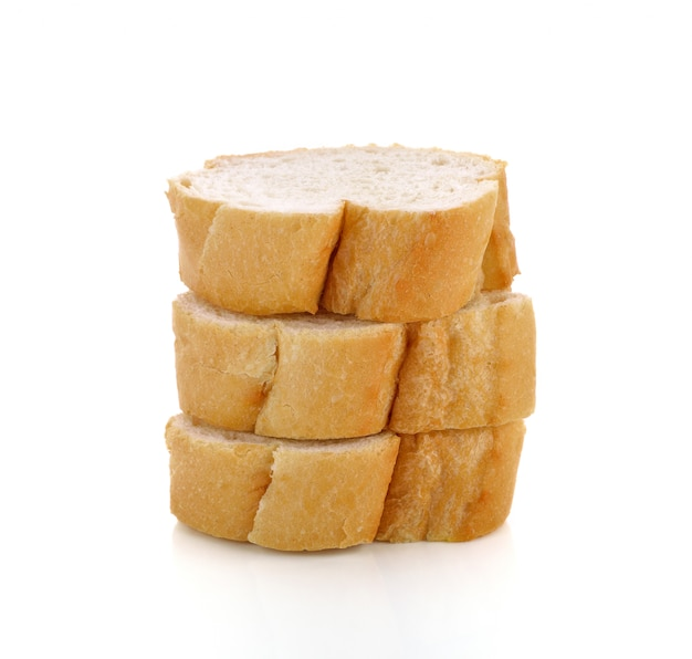 Frisch gebackene französische brotbaguettes isoliert