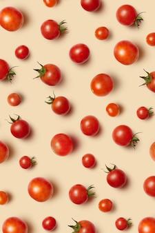 Frisch gepflückte rote reife bio-kirschtomaten