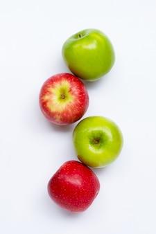 Frische äpfel draufsicht
