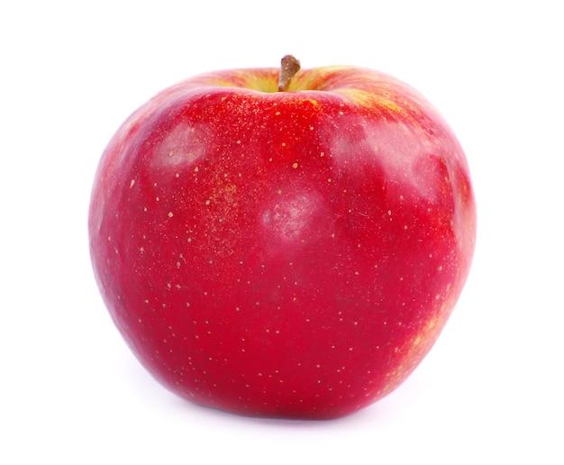 Frische äpfel isoliert auf einem weißen