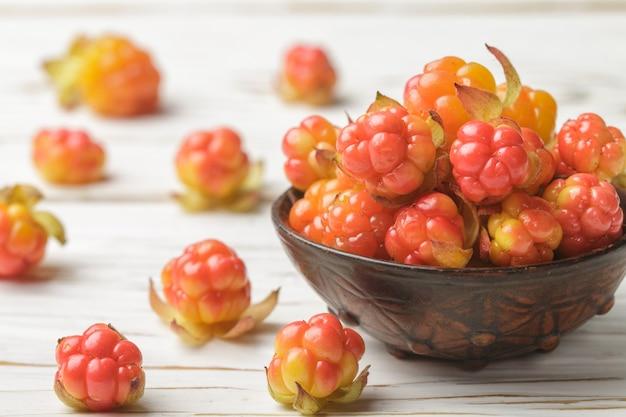 Frische bio-berry moltebeeren