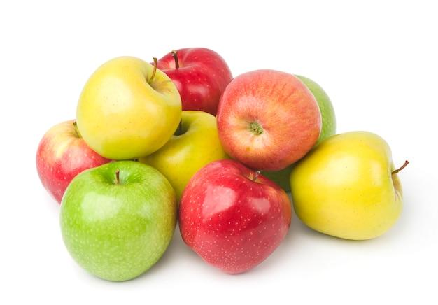 Frische bunte äpfel