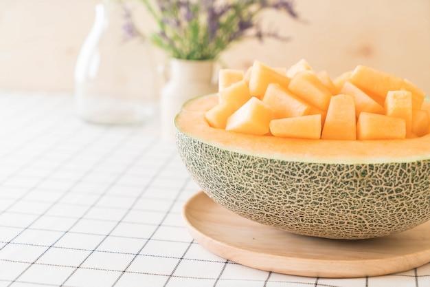 Frische cantaloupe melone