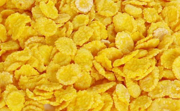 Frische cornflakes schließen hintergrund