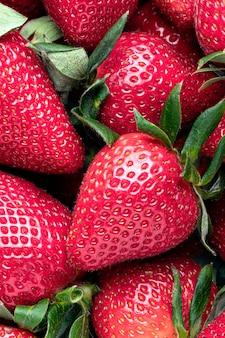 Frische erdbeeren nahaufnahme