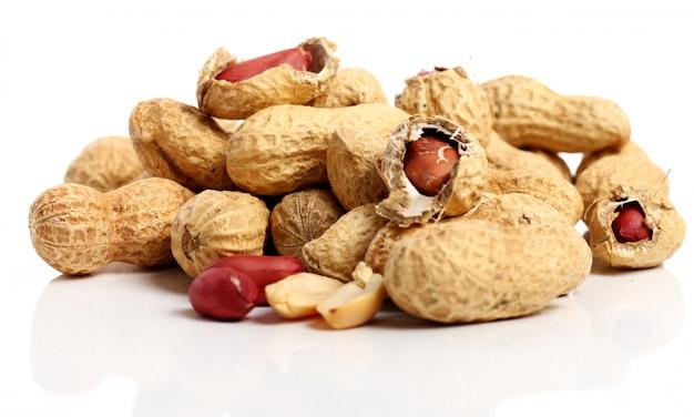 Frische erdnüsse