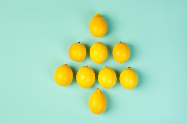 Frische gelbe zitronenzusammensetzung