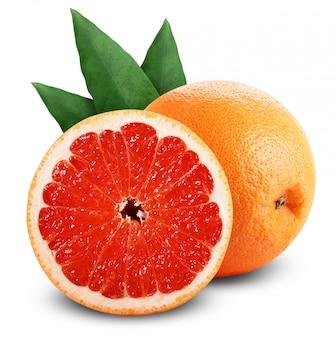 Frische grapefruit lokalisiert auf weiß