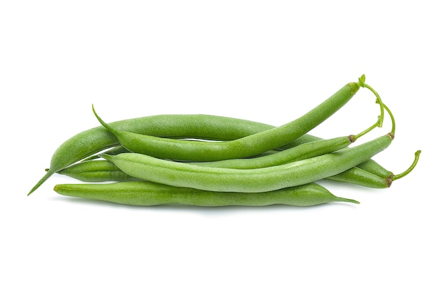 Frische grüne bohnen string bean isoliert