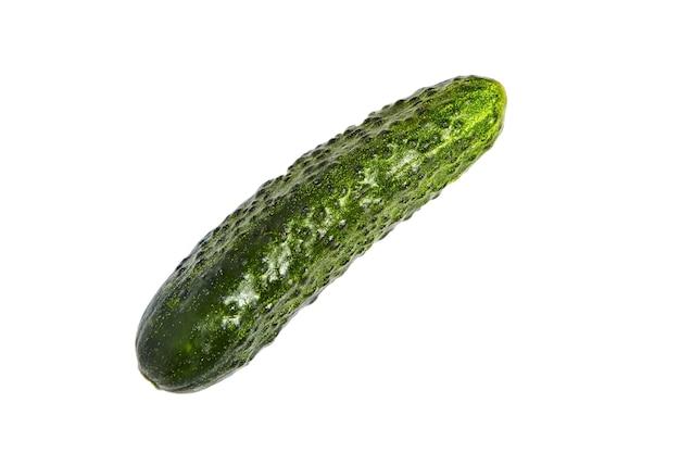 Frische grüne gurke isoliert