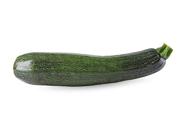 Frische grüne zucchini lokalisiert auf einem weißen hintergrund