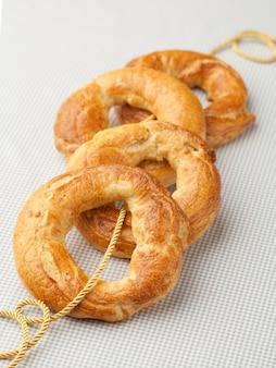 Frische knusprige bagels