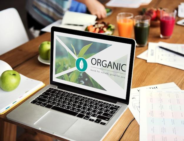Frische lebensmittel gesunder lebensstil bio