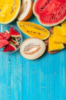 Frische melonen