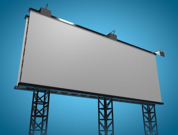 Frische mock-up-billboard