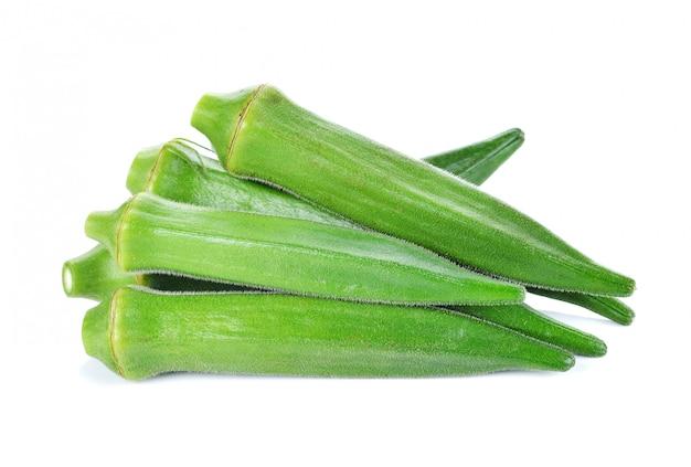 Frische okra oder grüne roselle