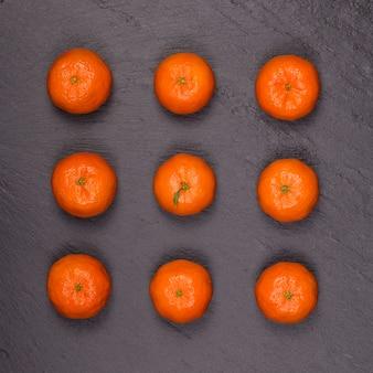 Frische orange, mandarinenfrucht, mandarinenmuster