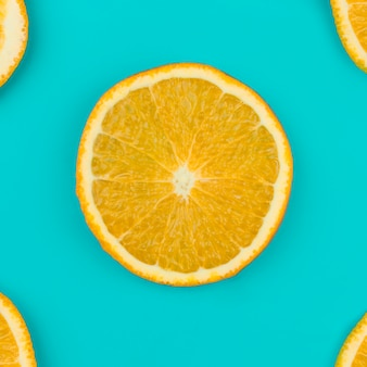 Frische orangenscheibe