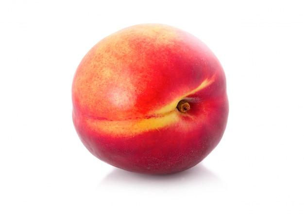 Frische pfirsichfrucht getrennt