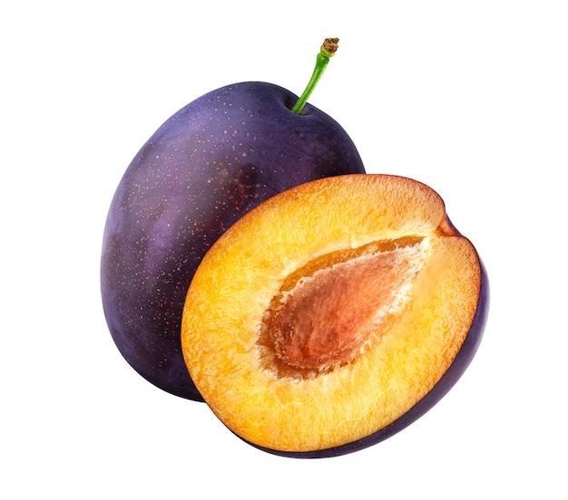 Frische pflaumenfrüchte isoliert