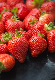 Frische reife erdbeerenhintergrundbeschaffenheit