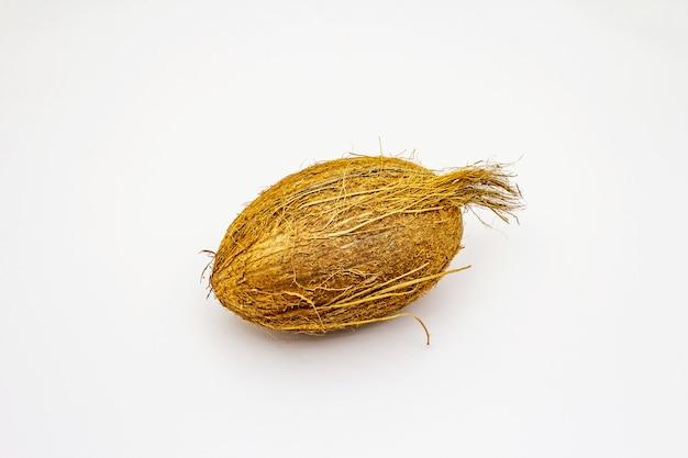 Frische reife kokosnuss isoliert