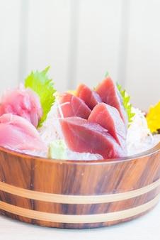 Frische rohe sashimi-fische