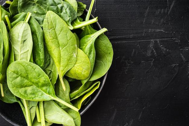 Frische spinatblätter