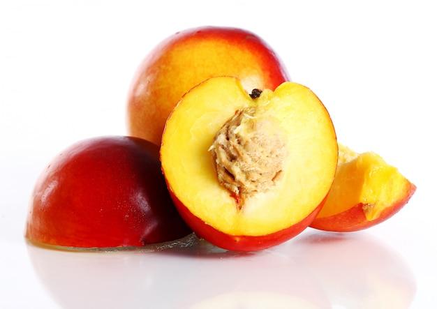 Frische und feuchte nictarine früchte
