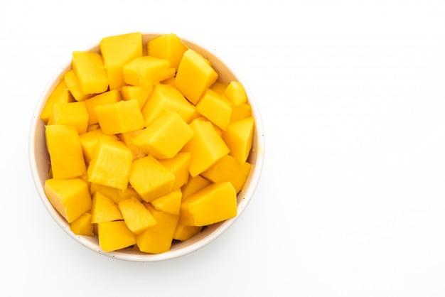 Frische und goldene mangos