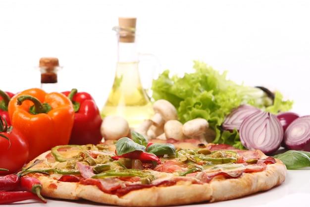 Frische und leckere pizza