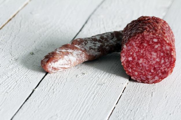 Frische und leckere salami