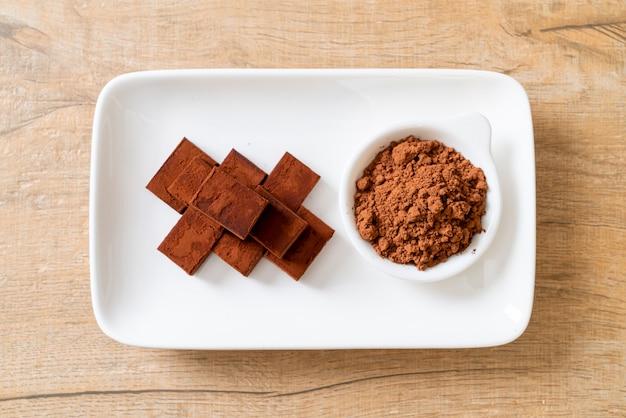 Frische und weiche schokolade