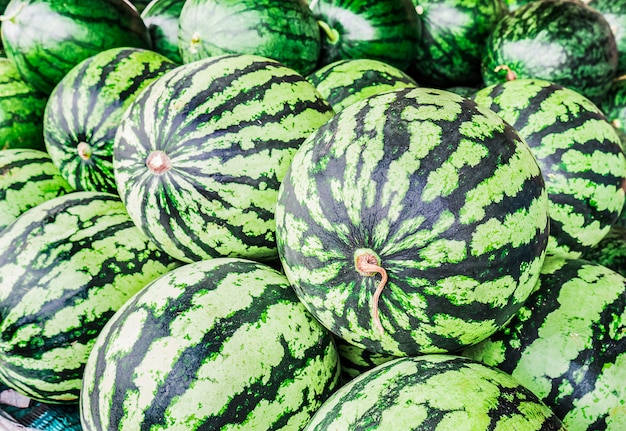 Frische wassermelonen.