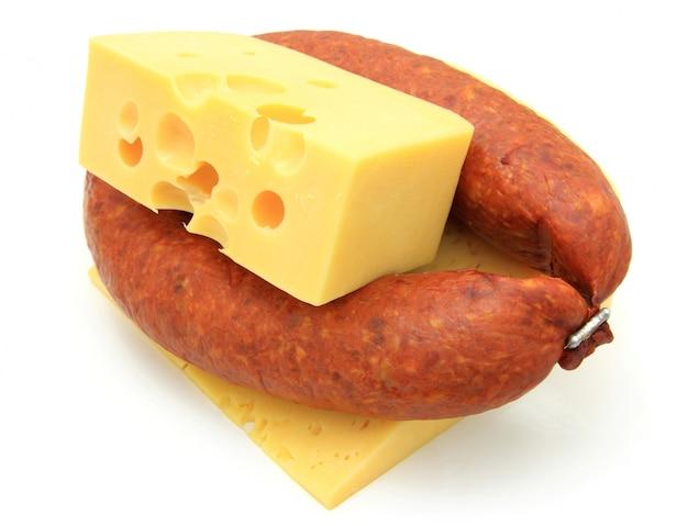 Frische wurst mit käse