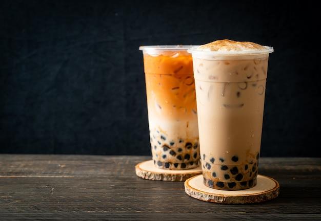 Frischer boba-kaffee oder bubbletea