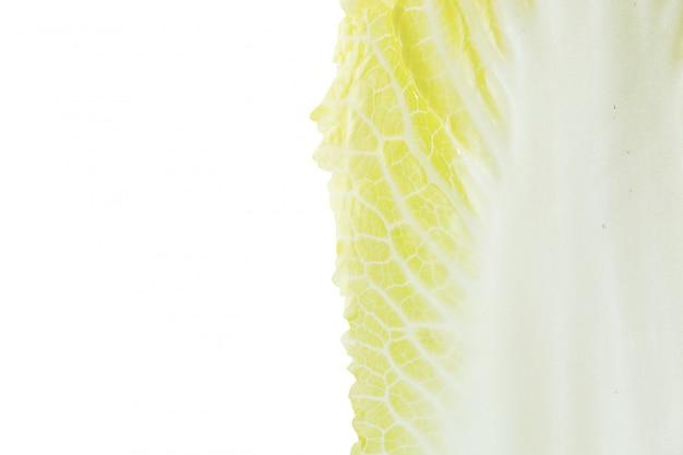 Frischer chinakohl auf weißem hintergrund